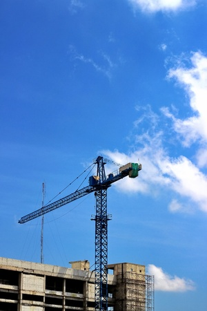 Tower crane at construction site