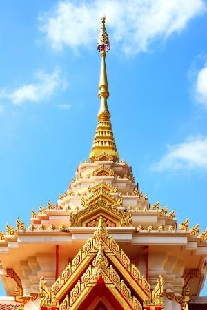 Buddhist crematorium in Thai temple
