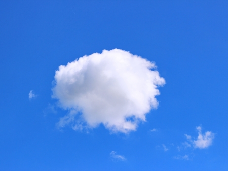 Cotton cloud in blue sky