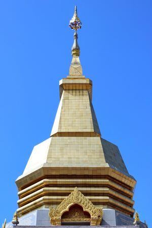 Thai pagoda, Phothisoonthorn temple, Udornthani province Stock Photo