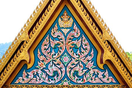 Thai art on temple gate