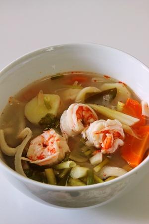 Thai Spicy boiled shrimp  Tom Yum Kung