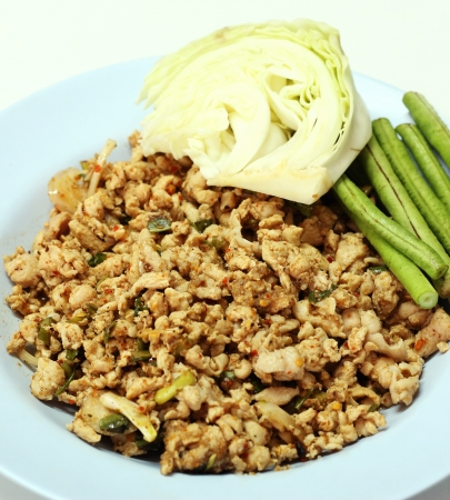 Minced chicken, general menu for Northeast, Thailand