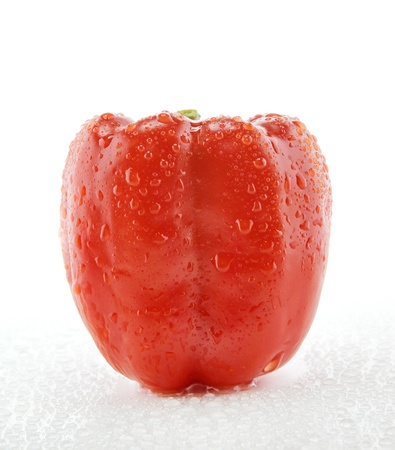 Fresh red apple on whiter background