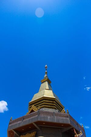 Top part of Thai pagoda, Udornthani province, Thailand photo