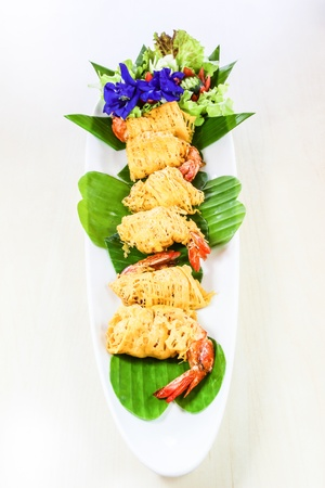 phuket food: Thai food called  Shrimp rhoom  or  Shrimp La-tiang