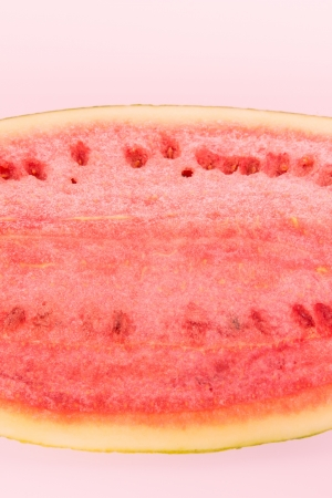 excretion: Watermelon piece isolated on white background, good fruit for excretion