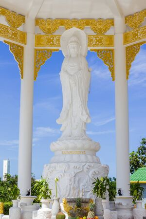 Guan Yin statue at Chinese shrine,  Phuket, Thailand photo