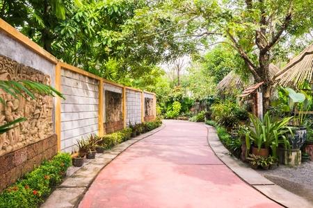 Walk way in botanic garden, Thailand
