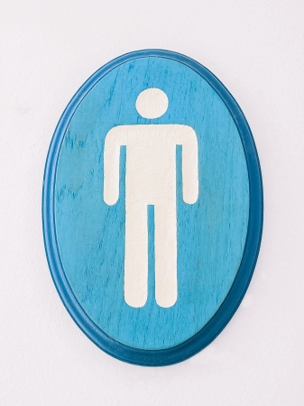 Man rest room sign made by wood photo