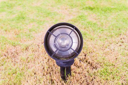 electrics: Landscape lighting in garden Stock Photo