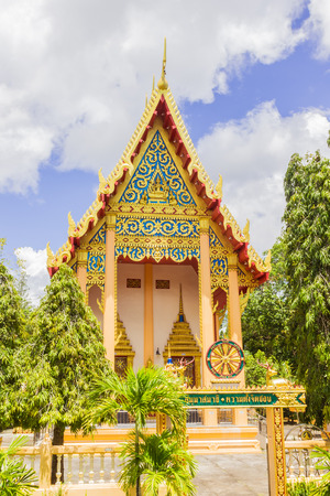 places of worship: Front view of Church of Prathong temple or Pra-pood temple at Phuket. It is one of the most famous places of worship for traveling in Thailand.
