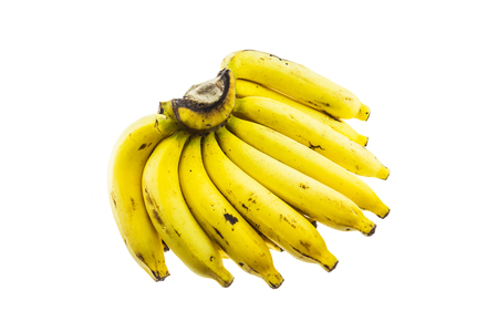 excretion: Ripe banana isolated on white background. It is good food for excretion