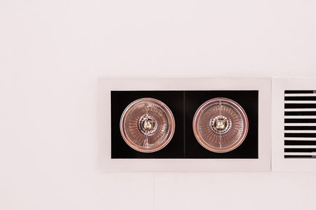 fixtures: Modern style lighting fixtures on ceiling beside air grille