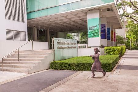 collegian: Bangkok, Thailand - June 5, 2016 : Statue of student or scholar or collegian at the Faculty of Art, Chulalongkorn University