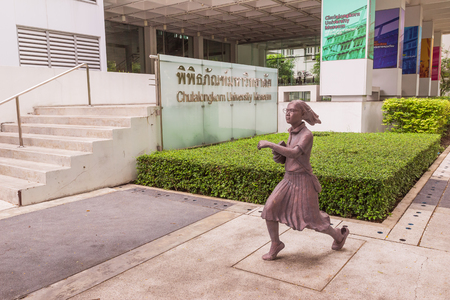 collegian: Bangkok, Thailand - June 5, 2016 : Statue of student or scholar or collegian at the Faculty of Art, Chulalongkorn University