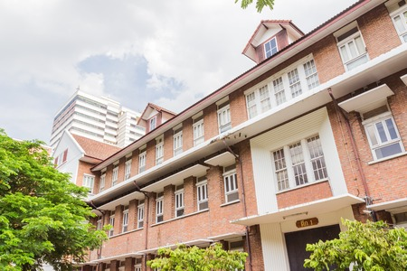 faculty: Bangkok, Thailand - June 5, 2016: Buildings of Faculty of Engineering, Chulalongkorn university.
