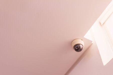 Construction details : Indoor CCTV installed on ceiling