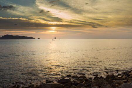 Solitude sunset and Kalim beach, Phuket, Thailand
