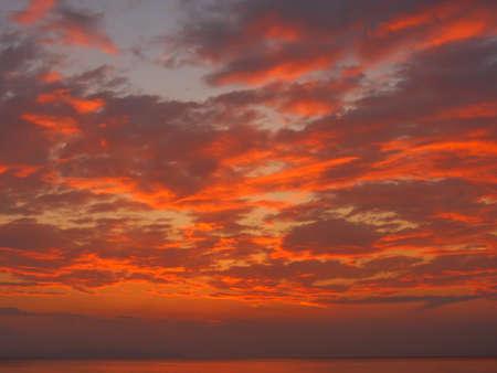 rad: Beautiful rad sunset on an ocean.
