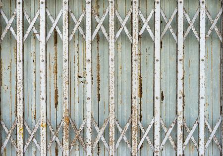 shutter door: Old folding metalSteel Rolling Shutter door gate - Vintage style.
