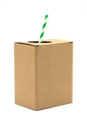 brown box: Brown box on a white background.