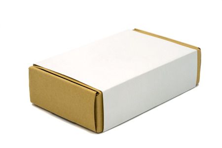 brown box: Brown box with clipping path on white background.