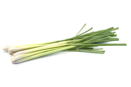 Fresh Lemongrass (citronella) isolated on white background, with clipping path. Stock Photo