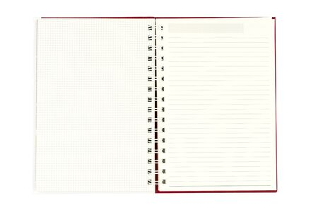 open diary: Open diary on white background.