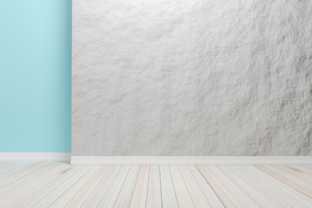 Empty interior light brown room with wooden floor, For display of your products.  - 3D render image.