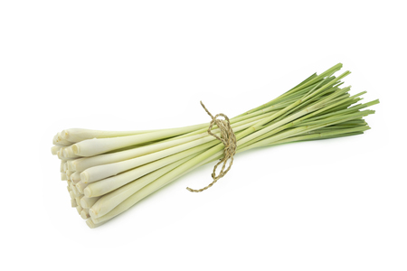 Fresh Lemongrass (citronella) isolated on white background, with clipping path. Stok Fotoğraf