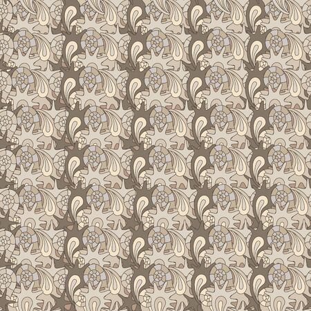 oceanside: summer seamless pattern with colorful shells, can be used for textile,background, wrapping Stock Photo