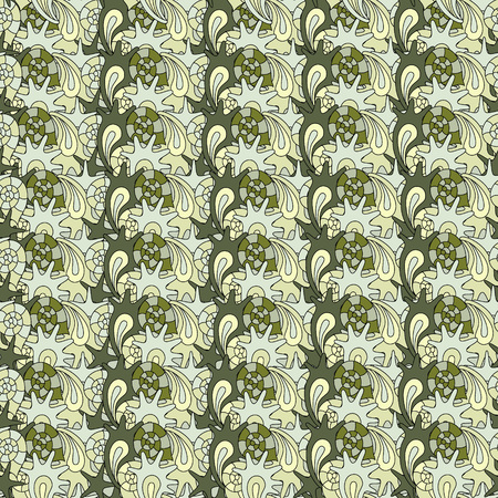 oceanside: summer seamless pattern with colorful shells, can be used for textile,background, wrapping Illustration