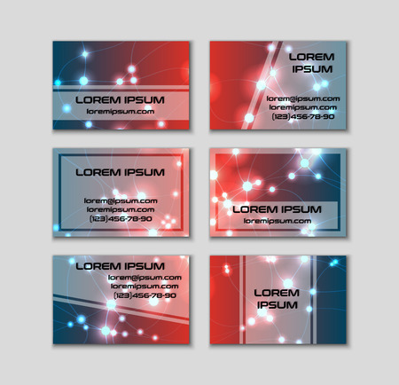 Business card collection abstract shining glow decorative elements business card collection abstract shining glow decorative elements with transparent layout front and back reheart Image collections