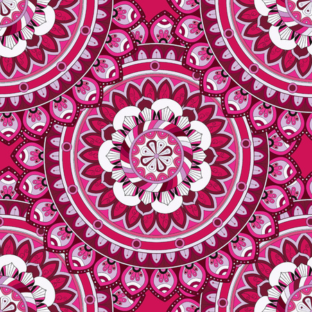 Ornate floral seamless texture, endless pattern with vintage mandala elements. Can be used for wallpaper, web page background, surface textures, fabric,wrapping. Islam, Arabic, Indian, ottoman motifs.
