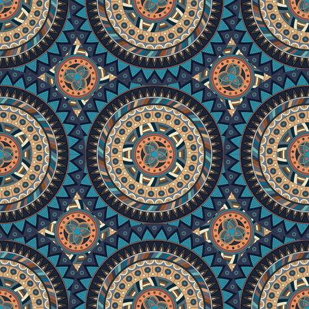 Sierlijke bloemen naadloze textuur, eindeloos patroon met vintage mandala elementen. Kan gebruikt worden voor behang, patroonvullingen, webpagina achtergrond, oppervlakte textures.Islam, Arabisch, Indiaas, Ottomaanse motieven.