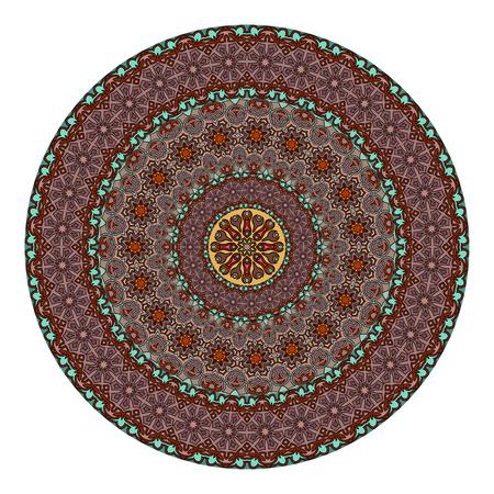 Ethnic colorful floral mandala. Vintage decorative elements. Decor for your design,lace ornament. Oriental pattern, vector illustration. Islam, arabic, indianturkish pakistan chinese ottoman motif Illustration
