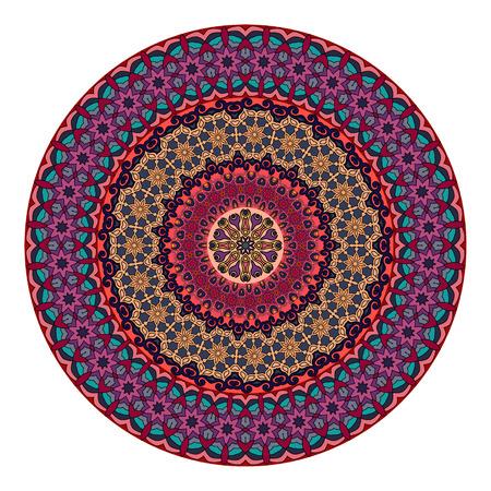Ethnic colorful floral mandala. Vintage decorative elements. Decor for your design,lace ornament. Oriental pattern, vector illustration. Islam, arabic, indian,turkish pakistan chinese ottoman motif