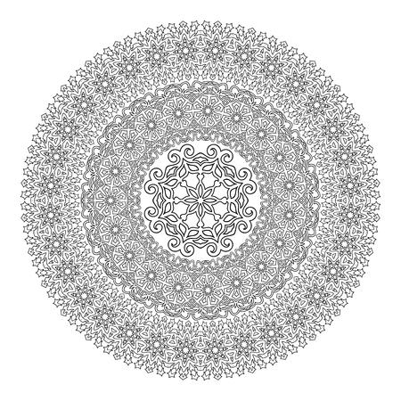 Flower Mandala Pour Livre De Coloriage. Ethnique Henné Pattern ...