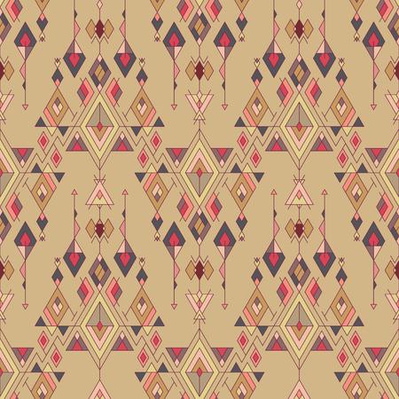 pattern: Vector Tribal vintage ethnic seamless pattern. Illustration