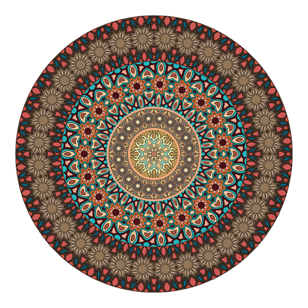 Ethnic colorful floral mandala. Vintage decorative elements. Decor for your design,lace ornament. Oriental pattern, vector illustration. Islam, arabic, indian,turkish pakistan chinese ottoman motif