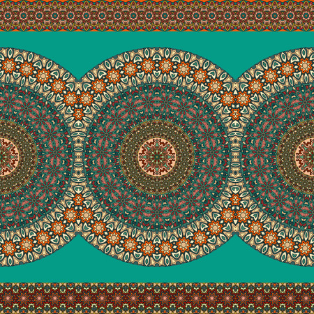 Ornate floral seamless texture, endless pattern with vintage mandala elements. Can be used for wallpaper, pattern fills, web page pattern, surface textures.Islam, Arabic, Indian, ottoman motifs.