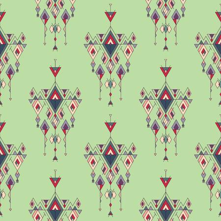 ベクトル部族ビンテージ エスニック シームレス パターン。アステカ、メキシコ、ナバホ族、アフリカのモチーフ。  イラスト・ベクター素材