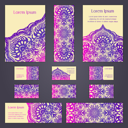 Templates Set With Business Cards Invitations And Banners