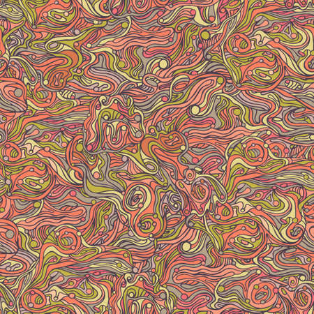Colorful doodle abstract seamless pattern. Can be used for wallpaper, pattern fills, web page background, surface textures. Illustration