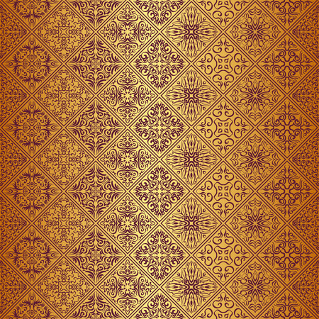 Royal wallpaper seamless floral pattern, Luxury background. Vectores