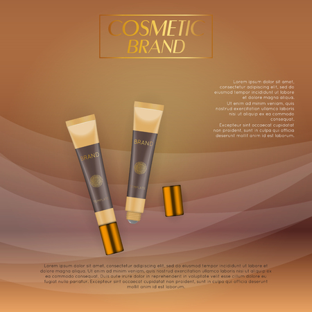 Beautiful realistic cosmetic product design template