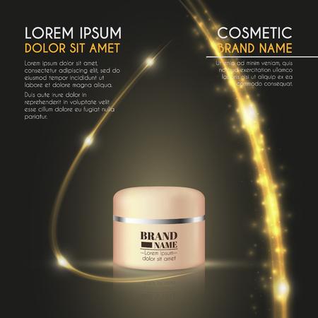 3D realistic beauty product bottle ads template. 일러스트