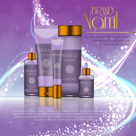 3D beauty product ads template design.