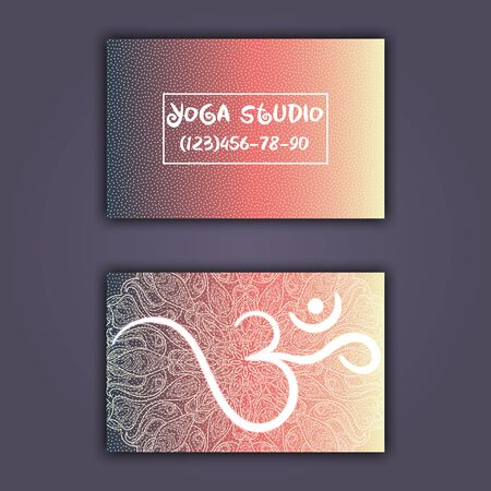 Business Card For Yoga Studio Or Yoga Instructor Ethnic Background Royalty Free Cliparts Vectors And Stock Illustration Image 95069330